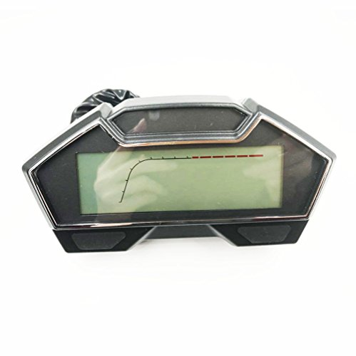 Samdo Universal LCD Motorcycle Speedometer Odometer RPM Speed Fuel Gauge  199 Kph Mph