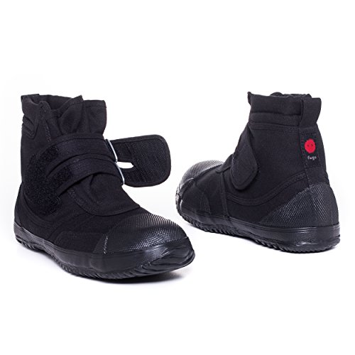 fugu Sa-Ba Japanese Ankle High Industrial Tactical Fashion Work Boots, for Women, Men, Black