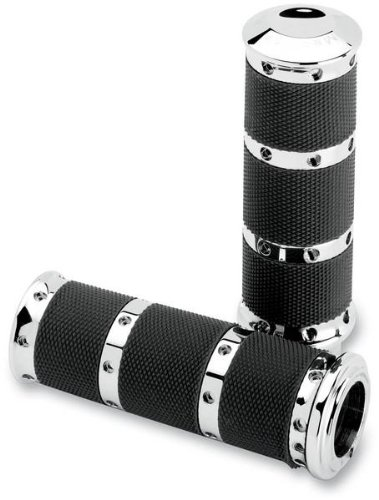 Performance MacHine Contour Renthal Wrapped XLarge Grips Blk for Kaw Suz Vic Yam