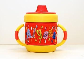 427f62d11e6 Amazon.com : Personalized Sippy Cup - Alyssa : Baby Drinkware : Baby