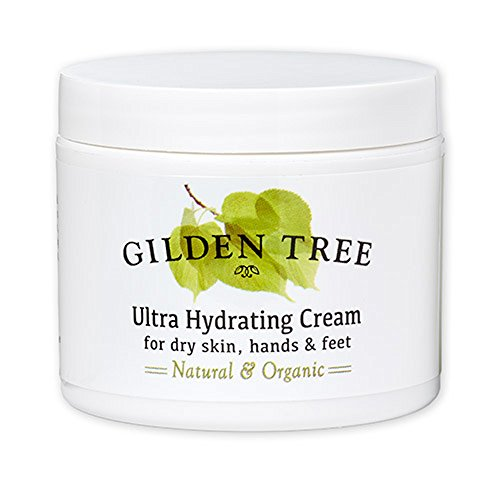 Gilden Tree Natural & Organic Fragrance-Free Ultra Hydrating Cream for Dry, Cracked Skin, Hands & Feet, 4 oz.