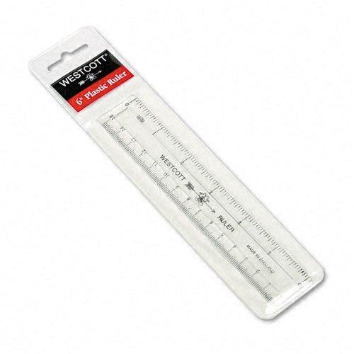 - Westcott : Shatter-Resistant Plastic Ruler, 6