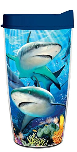 - SHARK REEF 16oz Tritan Insulated Tumbler With Lid and Straw