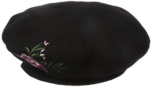 BCBGeneration Women's Floral Beret, Black, One Size