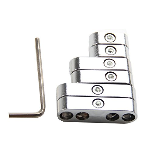 Bang4buck 7 Pieces Chrome Finish Spark Plug Wire Looms Dividers Clamp-in 7mm 8mm For Chevy - Loom Wire Brackets