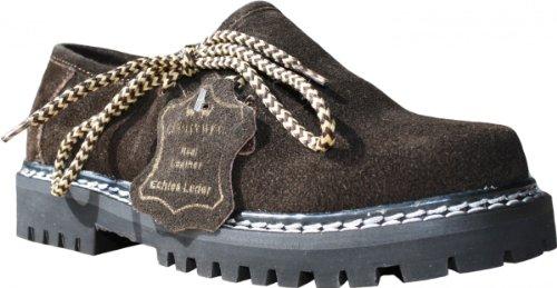 Kinder Jungen/Mädchen Haferlschuhe Trachtenschuhe für Trachten Lederhosen echtleder Braun