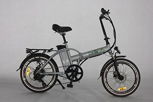 Greenbike USA GB5 500 Electric Motor Power Bicycle Lithium Battery Folding Bike - FULL SUSPENSION (SILVER)