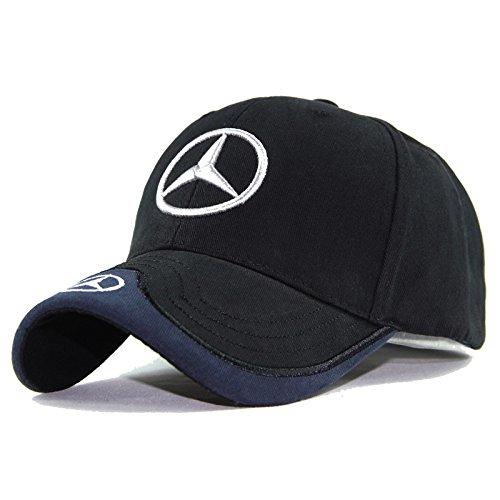 monochef Auto sport Car Logo Black Baseball Cap F1 Racing Hat (Benz)