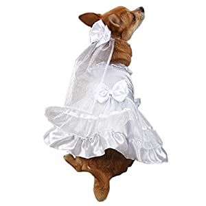 """East Side Collection """"Yappily Ever After"""" Wedding Dress for Dogs, 24"""" XL"""