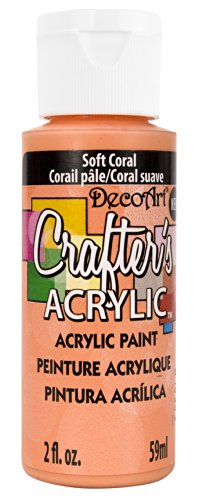 DecoArt DCA142-3 Crafter's Acrylic Paint, 2-Ounce, Soft Coral