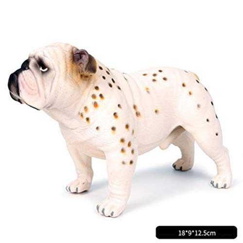 (RYYAIYL Bulldog - Collectible Statue Figurine Figure Puppy Model Dog Sculpture,Realistic Large Bulldog Figurines/7.08x3.54x4.9inches (Color : A))