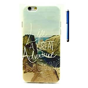 SHOUJIKE Ocean Pattern TPU Soft Case and Pen Back Cover for iPhone 6