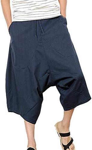 OHQ Pantalones Cortos Holgados De Pierna Ancha De AlgodóN De Harem ...