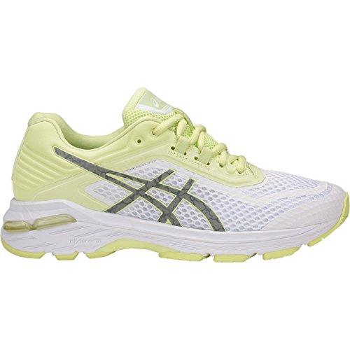 ASICS GT-2000 6 Lite-Show White/Silver/Limelight Women's Running Shoes, Size 6.5