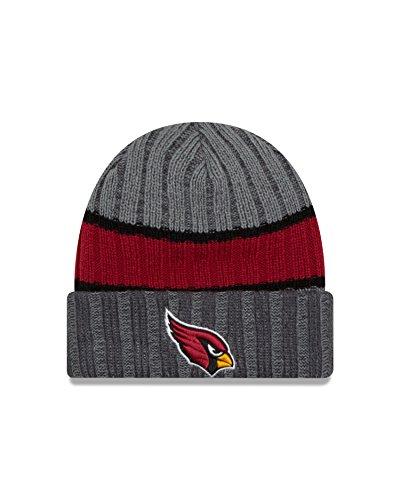 NFL Arizona Cardinals Stripe Chiller Knit Beanie, One Size, Graphite