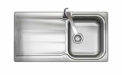 (Rangemaster GL9501-Sink Sink Countertop, Rectangular, Stainless Steel, Stainless Steel, 1Breast, Square))