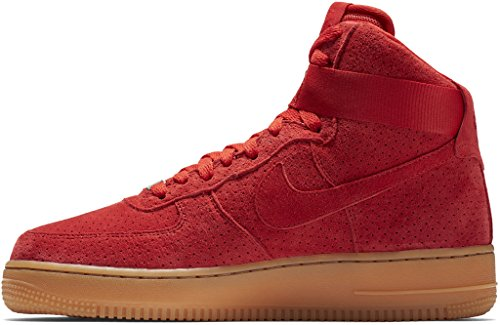 Nike AIR FORCE 1 HI SUEDE womens basketball-shoes 749266-601_11.5 - UNIVERSITY RED/UNIVERSITY RED ZrFDbye
