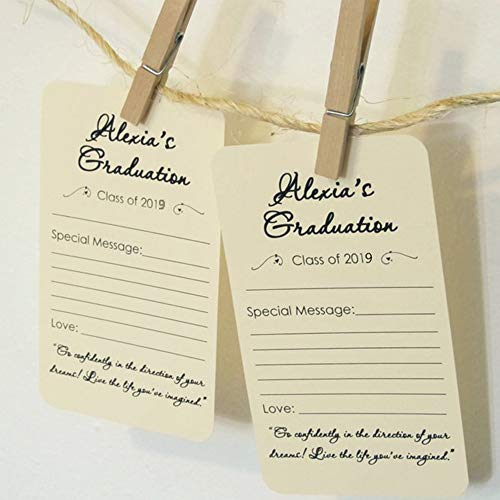 2019 Graduation Advice Cards Party Supplies 2019 Decorations - High School or College Graduation Party Games Activities Invitations Decorations Supplies