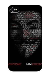 Blackducks Iphone 4/4s Well-designed Hard Case Cover Anonymous Protector For New Year's Gift