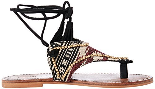 Cortefiel SANDALIA JACQUARD - Sandalias para mujer Multicolor