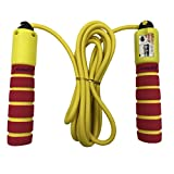 Aoneky Adjustable Skipping Rope with Counter and Comfortable Handles, Light Jump Rope for Exercise, Crossfit, Boxing, Workout and Fitness, Best Gifts for Boys and Girls Age 5-10 Year Old, Red