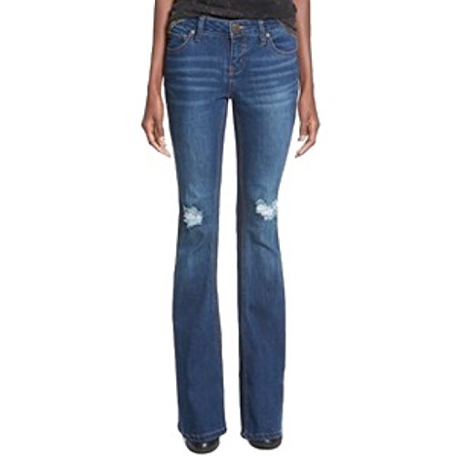 Celebrity Pink Juniors Womens Distressed Flare Jeans, Burning Man Wash 3 /...