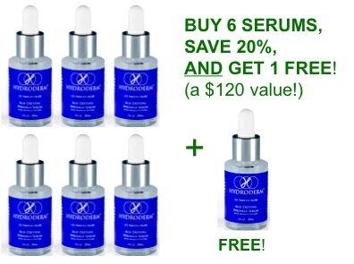 Hydroderm Age Defying Wrinkle Serum-avec Matrixyl 30ml - 6 PACK (Acheter 6, 1 gratuit!)