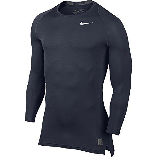 Men Pro Soccer (Nike Men's Pro Cool Compression L/S Obsidian/Dark Grey/White T-Shirt LG)