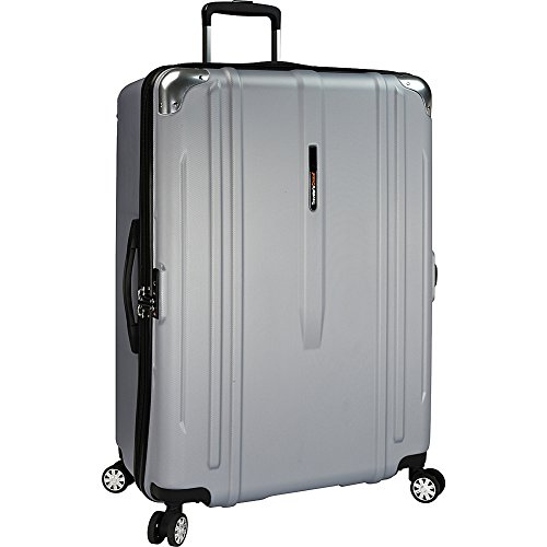 travelers-choice-new-london-100-polycarbonate-trunk-spinner-luggage-silver-29-inch-