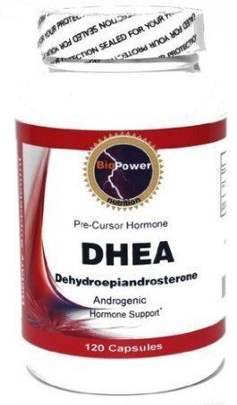 DHEA déhydroépiandrostérone # BioPower 100mg 240 Capsules (2 bouteilles)