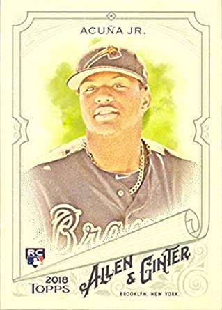 Image result for 2018 topps allen & ginter ronald acuna jr