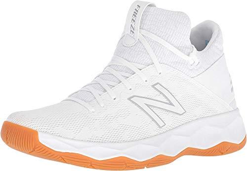 New Balance Men's Freeze V2 Box Agility Lacrosse Shoe, White/Grey, 9 D US