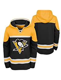 Pittsburgh Penguins Youth Asset Lace-Up Pullover Fleece Hoodie