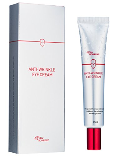 [TROIAREUKE] Anti-Wrinkle Eye Cream 25ml (0.84fl.oz.) - Korean Cruelty Free Peptide Anti-Aging Dark Circles Fine Lines Puffiness Bags Skin Care