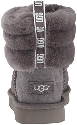 Donna Mini Trapuntati Stivali con UGG Fluff Grigio Logo FwpqdxgSn