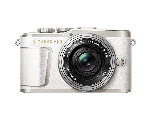 Olympus PEN E-PL9 kit with 14-42mm EZ lens, Camera Bag, and Memory Card, Pearl White by Olympus