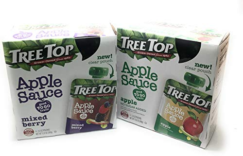 (Tree Top Good to Go Fruit Apple Sauce & Mixed Berry (Variety Pack of 2))