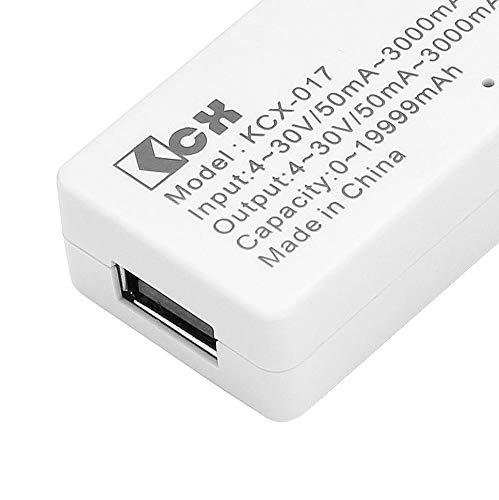 3A USB Probador de Capacidad de Voltaje de Corriente 4V-30V Mini USB Detector de Capacidad de Voltaje de Corriente USB Tangxi 0A Pantalla LCD simult/ánea Probadores de Corriente de Voltaje