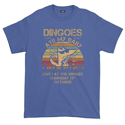 Men's Dingoes Ate My Baby Vintage T-Shirt (L, Royal Blue)