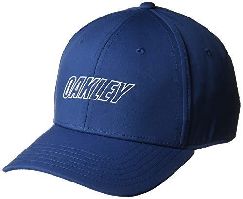 Oakley Mens Men's 6 Panel Waved HAT, Dark Blue, ()