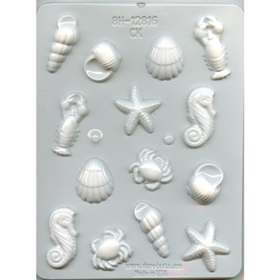 Sea Creature Hard Candy Mold by City Chocolates - 8H-12816