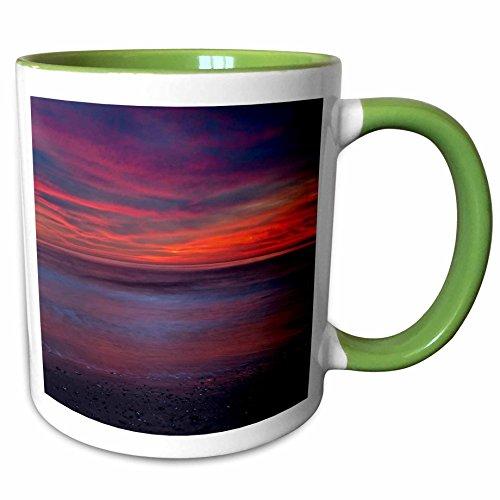 3dRose Danita Delimont - Sunrises - USA, New Jersey, Cape May. Sunrise on ocean shore - US31 BJA0015 - Jaynes Gallery - 11oz Two-Tone Green Mug - Jersey New Outlets Shore