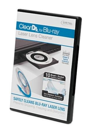 Digital Innovations Cleandr Blu-Ray Lens Cleaner With Image Sound Calibration Tools Storage Case