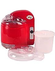 Lickleys Two-In-One Helado & Yogur Cafetera con Desmontable Mezcla Remos, Hace Hielo Crema Gelato Frozen Yogur Sorbete Casero Yogur - Rojo, 2-in-1 Ice Cream & Yogurt Maker
