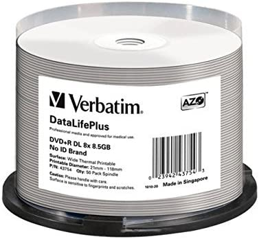 VERBATIM 43754 VERBATIM DVD+R 8.5GB 8X 50PK DL WHITE THERMAL SPINDLE [並行輸入品]