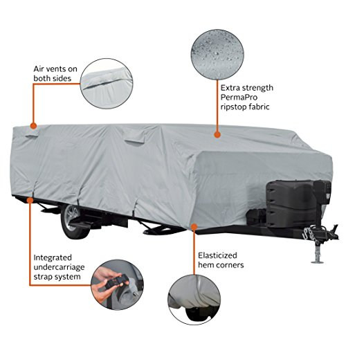 Classic Accessories PermaPro RV Cover for 18'-20' Long Folding Camping Trailers by Classic Accessories (Image #2)
