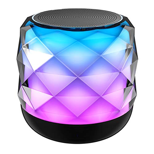LED Bluetooth Speaker, NUBWO Portable Bluetooth Speakers,Colorful Night Light Wireless Speaker, Bedside Lamp & Built in Mic for iPhone/Samsung/Speakerphone/TF Card/Tablet/Laptop/Echo Dot