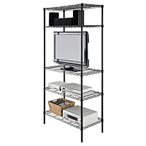 Amazon Com Garage Storage 5 Tier Shelving Unit Black Make Your Own Beautiful  HD Wallpapers, Images Over 1000+ [ralydesign.ml]