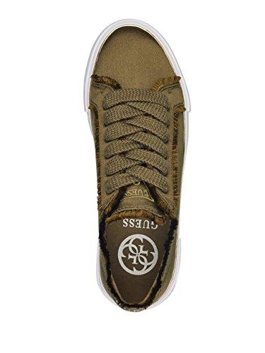 GUESS Frauen Goodfun Sneaker Dunkelgrünes Gewebe