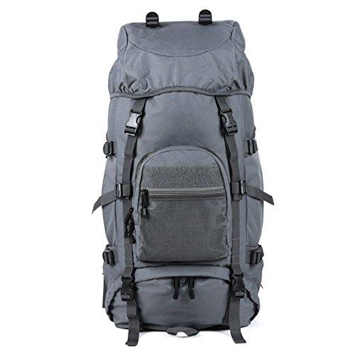 GOUQIN Outdoor Rucksack Klassische Mode Outdoor Sport Rucksack Mit Zwei Umhängetaschen 60 +10 L Klettern Taschen Rucksack Pc